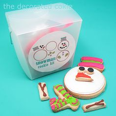For Christmas Next year - assemble-your-own-snowman cookie gift