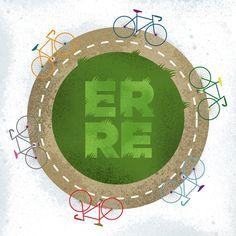 Biking #erre #erreurrutia www.erreurrutia.com My Works, Biking, Symbols, Peace, Logos, Design, Art, Art Background, Bicycling