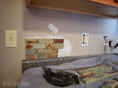 backsplash oxide ledgestone natural stone wall tile