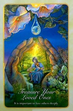"""10 Treasure your Loved Ones"" Oracle Cards Whispers of Love par Josephine Wall and Angela Hartfield"