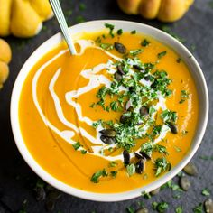 Pumpkin Sage Soup. A vibrant bowl of Autumnal colour and flavour. Make the most of pumpkin season with this herby bowl of sunshine! Well, we're nearly at the end of November, which means it's time to let go of pumpkins and accept that it's over for another year. Let's just have one last recipe shall …