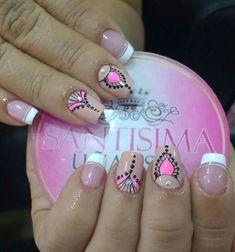 Cute Nail Art, Nail Art Diy, Fingernail Designs, Nail Art Designs, Love Nails, Fun Nails, Merry Christmas Gif, French Polish, Acrylic Nail Art