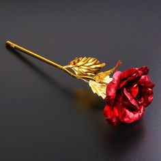 Valentines Day Birthday, Valentine Day Gifts, Red Flowers, Red Roses, Glass Flowers, Love Gifts, Best Gifts, 24k Gold Rose, Forever Rose