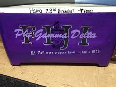 Cooler Frat Fiji Phi Gamma Delta: Love the crest/nickname/lettering on this