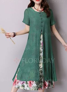 Shop Floryday for affordable Day Dresses Vintage Dresses. Floryday offers latest ladies' Day Dresses Vintage Dresses collections to fit every occasion. Trend Fashion, 2020 Fashion Trends, Womens Fashion, Robes Vintage, Vintage Dresses, Dress Outfits, Fashion Dresses, 50s Outfits, Vestidos Vintage