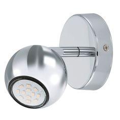 The Sancho 1 Single LED Spotlight has a GU10 3 Watt LED in Warm White. The Sancho 1 has a Chrome Globe Shade that adds a…