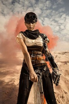 Me as Imperator Furiosa from Mad Max: Fury RoadPhoto by Ksenia Makarova (Makks Tobi)It was a truly awesome photoshoot. I love Mad Max universe and The F. Mad Max Cosplay, Mad Max Costume, Post Apocalyptic Costume, Apocalyptic Fashion, Imperator Furiosa, Apocalypse Art, Apocalypse Makeup, Mad Max Fury Road, Bd Comics