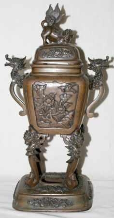 ANTIQUE CHINESE TEMPLE INCENSE BURNERS | Home [www.liveauctioneers.com]