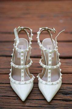 Edgy wedding heels #weddingday