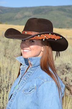 Saddle Tooled Felt Hat! I love this!!!