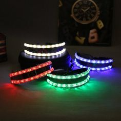 Divertissement LED Lunettes Luminescents Lumière Blanche/Rouge/Vert/Bleu