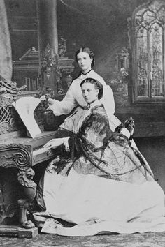 Alexandra, Princess of Wales with her sister Princess Dagmar of Denmark later Empress Maria Feodorovna of Russia, 1863.A♥W