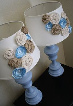 lamp rosettes placement. see other post for tutorial.. this design to save time & supplies...