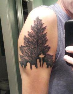 Tree Tattoo On Biceps