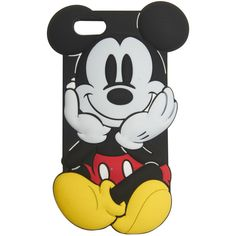 Mickey Mouse iPhone 5 Case ($5.45) ❤ liked on Polyvore featuring accessories, tech accessories, phone cases, phones, cases, iphone, black y wet seal
