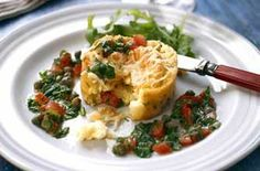 Bursting with flavour, these fluffy cheese and herb soufflés make a delicious light lunch or you can serve them as a simple starter. Easy Starters, Sausage Rolls, Omelettes, Quiches, Allrecipes, Kids Meals, Veggies, Appetizers, Herbs