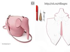Sewing Bags For the 2015 Gifts collecton, LOEWE's newly-appointed creative director Jonathan Anderson has launched the Elephant bag into animals collection. Sac Vanessa Bruno, Leather Bag Pattern, Animal Bag, Leather Workshop, Diy Purse, Leather Bags Handmade, Leather Projects, Clutch, Fashion Sketchbook