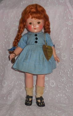 "Effanbee Patricia 'Anne Shirley' Doll - With Tags - ""Anne Of Green Gables"""