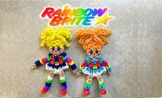 Rainbow Brite 1980s Animated Series - Made on the Rainbow Loom - Loom bands