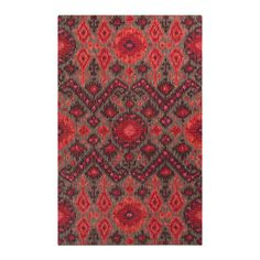 Zihna dazzles in red! Available in 5' X 8' @Arhaus