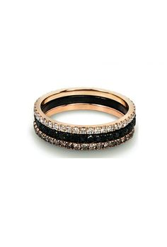 Selin Kent Pave Band in Black Gold with Black Diamonds at ShopGoldyn.com