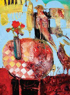 Robert Burridge abstracted still life painting http://www.dillmans.com/dcaf/2009/burridge_2007_01.jpg