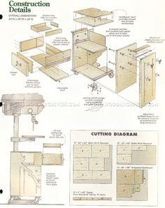#1427 Drill Press Cart Plans - Drill Press