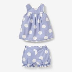 Blue & White Polka Dot Der