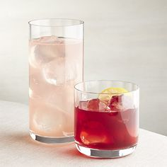 Britta Optic Double Old-Fashioned Glass | Crate and Barrel