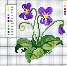 19 ideas embroidery patterns flowers punto croce for 2019 Embroidery Flowers Pattern, Diy Embroidery, Cross Stitch Embroidery, Counted Cross Stitch Patterns, Cross Stitch Charts, Cross Stitch Designs, Mini Cross Stitch, Cross Stitch Flowers, Bordado Tipo Chicken Scratch