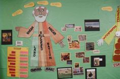 Part of the Patriarch teaching wall. This is a continuation of the bulletin board teaching Abraham, Isaac and Jacob.