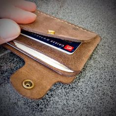outlandish wallets for women Best Leather Wallet, Leather Wallet Pattern, Minimalist Leather Wallet, Personalized Leather Wallet, Passport Wallet, Slim Wallet, Men Wallet, Leather Projects, Leather Men