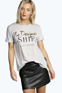 98 Best Slogan tees images   Woman fashion, Block prints, Dressing up c95fa3a68b1a