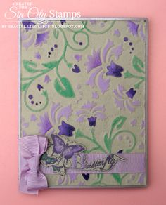 How to Color a Dry Embossed Background With PanPastels