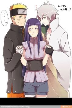 Hinata in the last with naruto and toneri