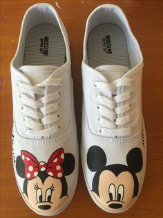 Mickey and Minnie Mouse shoes for women Visit my shop at  enchanted-arts-by-rose.myshopify.com 540f1be92