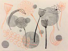Branka Hollingsworth. Flowers in Black And Orange.