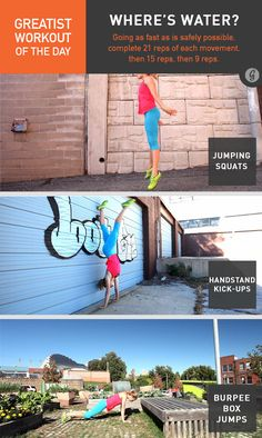 Greatist Workout of the Day: Where's Water? #fitness #bodyweight #workout