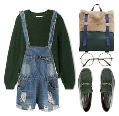 """Distressed Denim"" by the-messiah ❤ liked on Polyvore featuring NewbarK and vintage"