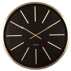Karlsson Wall Clock Maxiemus Station - Black With Brass