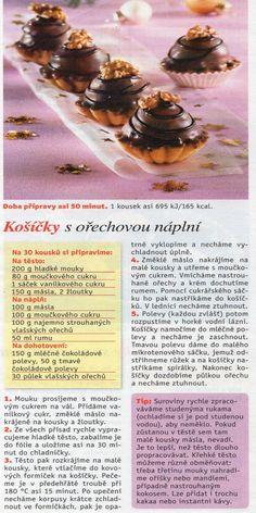Slovak Recipes, Czech Recipes, Christmas Baking, Christmas Cookies, Baking Recipes, Cooking Tips, Cupcake Cakes, Deserts, Food And Drink