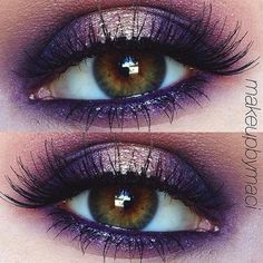 #repost to my most favorite look ever! Purple sparkles  EYES; @makeupgeekcosmetics peach smoothie, beaches n cream + after glow pigment, @maccosmetics push the edge pigment with @nyxcosmetics crystal pewter glitter linerLASHES; @ardell_lashes 'wispies'