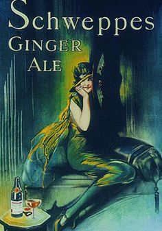 Schweppes Ginger Ale Advertising Poster, circa 1920.