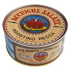 Agostino Recca Anchovies Salted Whole Anchovies: Amazon.com: Grocery & Gourmet Food