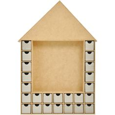 Kaisercraft Beyond The Page MDF Shadow Box Advent House Calendar-19.25inX13inX2in