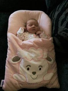 """Olivia Louisa Looks Sooooo Cute In Her Nap Mat! Little Olivia is so settled and happy in her Cotton Candy Nap Mat. Mum Emma said """"Thank you for the quick delivery of the nap mat x I had my little girl Olivia Louisa and she has been loving it since we got home x just love your website""""  Nonna is delighted! :-)"""