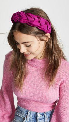 Jennifer Behr Lorelei Headband Fabric: Silk faille All over twist detailing Headband Made in the USA Style Twist Headband, Turban Headbands, Braided Headbands, Headbands For Women, Headband Scarf, Fabric Headbands, Hair Scarf Styles, Headband Styles, Scarf Hairstyles