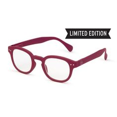 Raspberry Red #C Let Me See Reading Glasses by See Concept