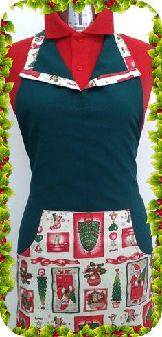 Mod. Happy Grembiule con tascone e bordo collo in contrasto.#Natale #grembiuli #regalo #panifici #pasticcerie #alimentari #ristorazione #cakedesign #abbigliamentoprofessionale #Freelineprofessional #produzione