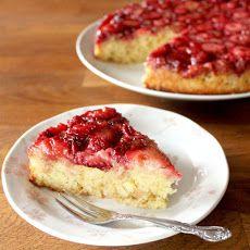 Lemon Strawberry Upside Down Cake